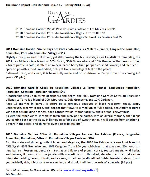 The Rhone Report - spring 2013